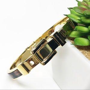 Michael Kors Tortoise Shell Buckle Bangle Bracelet